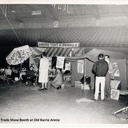 Archival photo of previous tents