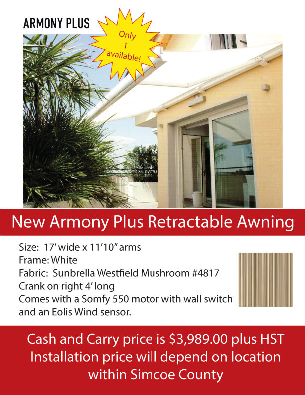 Used Armony Plus Retractable Awning Sale