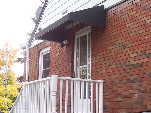 black residential awning