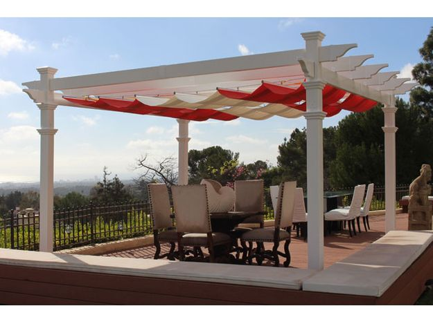 Infinity Retractable Pergola Sun Shade Canopy